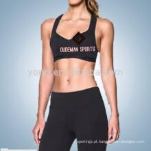 Novo profissional correndo sem fio Sports Bra para mulheres yoga