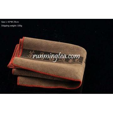 Ancient Tea Horse Road Painting Tea Table Towel-Grey Brown Color