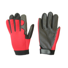 Micro Fiber Silicone Dots Palm Mechanic Glove-7216