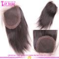 Mais belas best-seller de encerramento de laço de cabelo humano virgem onda reta brasileiro de seda para as mulheres
