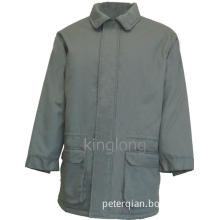 High Quality Grey Color Warm Winter Coat