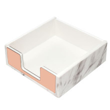 Acrylic Memo Pad Holder Marble Rose Gold