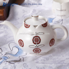 Chinese Style Cheongsam Pattern Oriental Tea Pot, Hot Sale Antique Ceramic Tea Set
