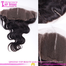 High quality silk base closures lace frontal natural wave indian human hair silk base closures lace frontal