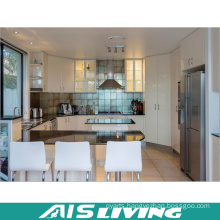 Modern Customized Kitchen Cabinet with Dining Table (AIS-K413)