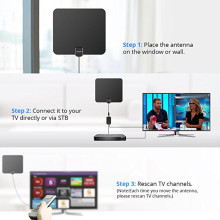 Falt Amplified Utral Thin Indoor Digital HDTV Antenna