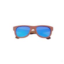 óculos de sol dos homens de bambu da marca de luz polarizada