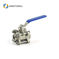 WCB control valve trunnion galvanized ball valve