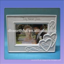 Quadro de cerâmica da foto do casamento com projeto do amor