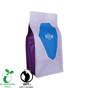 Eco Friendly 12oz Tas Kopi Kompos Biodegradable Ritsleting Tas dengan Katup