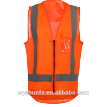 Polyester Reflective Safety Vest with chest pocket and ID pocket