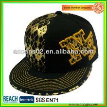 Black Flat Brim Snapback Caps Hochwertige SN-1198