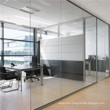Glass Partition Wall System Office Price Interior Exterior with Aluminium Framed Frameless Door Sliding Folding Ratractable