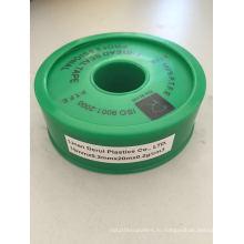 19 мм 100% лента из PTFE ленты / тефлона с зеленой Outershell