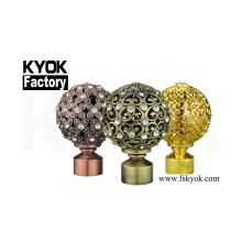 KYOK cheap crown curtain rod finials for curtain rods ,home decoration cheap curtain rod finials