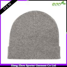 16FZBE05 beanie cap otoño invierno hombres rib knit personalizada gorrita tejida