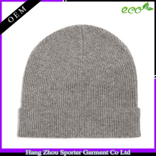 16FZBE05 beanie cap fall winter men rib knit custom beanie cashmere