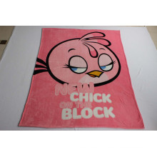New Super Soft Flannel Fleece Blanket with Chick / Baby Blanket