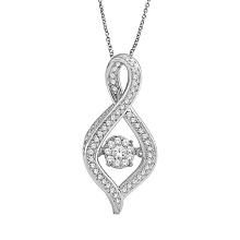 Micro Pave Setting 925 joyería de plata de los colgantes con el diamante que baila