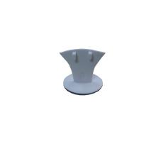 Белый PU Деревянные ювелирные изделия Серьги Кольцо Держатель Стенд (BT-R2)