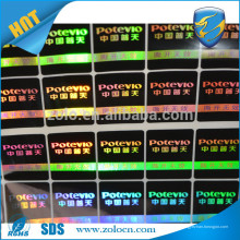Tv de comparación de precios de seguridad para mascotas de holograma serie holograma etiqueta de garantía con logotipo personalizado