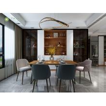 Подгонянный стильный комплект мебели столовой меламина