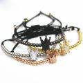 Handmade Adjustable Rope Steel Bead Crown Bracelet