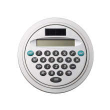 8 Digits Mini Round Shape Pocket Calculator