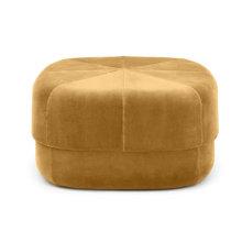 Modern fabric round velvet ottoman stool