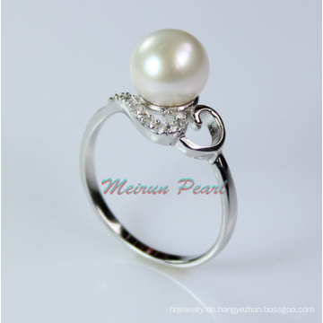 Sterling Silber Süßwasser Perle Ring (ER1602)