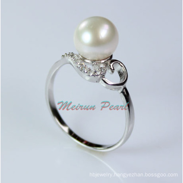 Sterling Silver Freshwater Pearl Ring (ER1602)