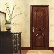 Portas de entrada externas de madeira maciça esculpidas clássicas, opção infinita personalizada de fábrica