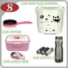 Car Electric Mini Rice Cooker Nonstick Frypan Lunch Box Coffee Pot Cookware