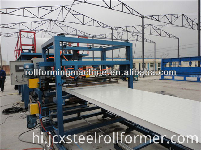 Wall Insulation PPGI EPS Sandwich Panel Production Machine Line