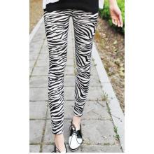 Leggings de impressão Zebra sem costura para mulheres papel imprimido