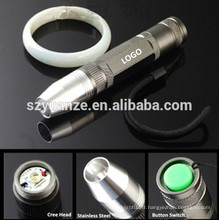 Lampe torche rechargeable à LED en acier inoxydable à lamelles, lampe de poche led