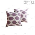 Travesseiro decorativo personalizado de linho do sofá da tampa de 18 polegadas