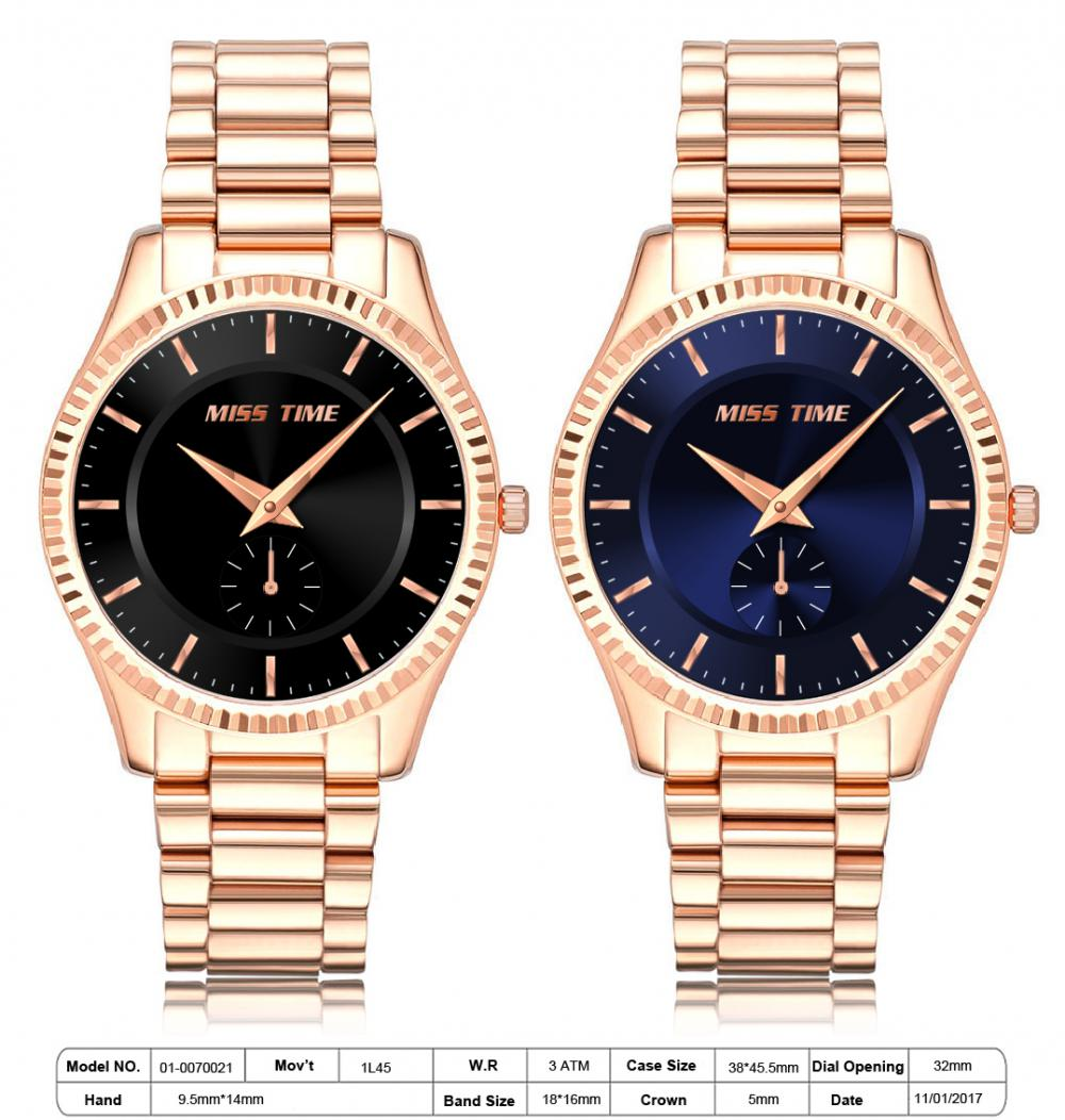 Rose gold 316L Japan OEM quartz watches