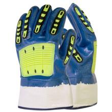 SunnyHope 2016 guantes resistentes químicos del impacto de TPR Nitrile de la venta caliente