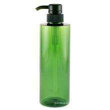 Clear Green Empty 500ml Custom Logo Lotion Bottle Hotel PET Foam Soap Plastic Pump Bottles for Shampoo