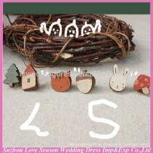 WC0086 Nova moda de qualidade superior barato da China fez ocasionais ocasiões brincos de madeira