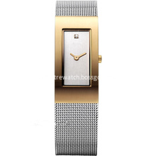 Women's Mesh Watch Quartz Minimalist Diamond