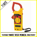 China factory clamp type digital mutimeter red and yellow with CE Certification