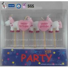 Vela de desenhos animados de moda decorado bolos para criança de aniversário