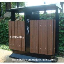 Billig, umweltschützende Holz Kunststoff Composite WPC Mülleimer