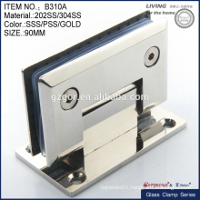 90 degree shower door hinges/wall to glass hinge