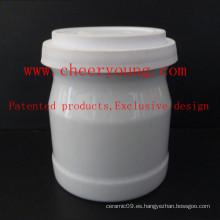 Taza de leche de porcelana