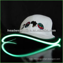 camouflage led cap solar led light cap with embroidery