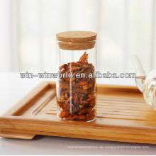 Hochwertiges luftdichtes Weithals-Glas-Vorratsglas mit Korkdeckel