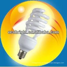 energía ahorro lámpara media espiral 12mm 8000H CE calidad